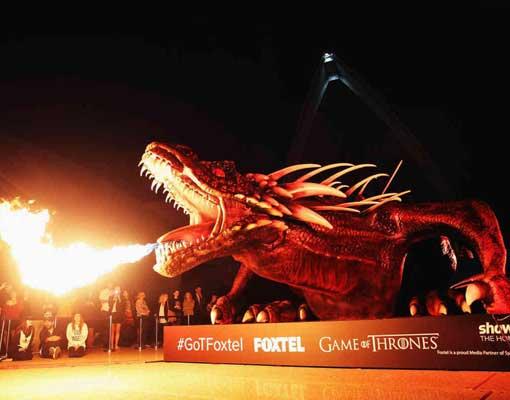 Foxtel Game of Thrones Dragon Sydney Opera House