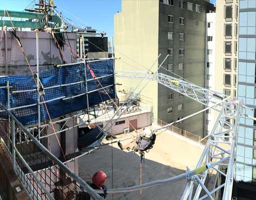 ara-tafe-truss-scaffolding-safety-net-rigging-install